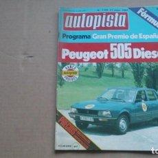 Coches: REVISTA AUTOPISTA N 1103 MAYO 1980. Lote 98871959
