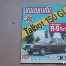 Coches: REVISTA AUTOPISTA N 1107 JUNIO 1980. Lote 98878171