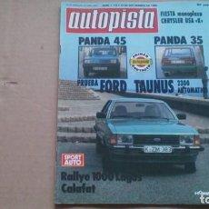 Coches: REVISTA AUTOPISTA N 1115. SEPTIEMBRE 1980. Lote 98878599