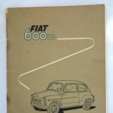 Coches: ANTIGUO Y ORIGINAL MANUAL FIAT 600D. Lote 98973819