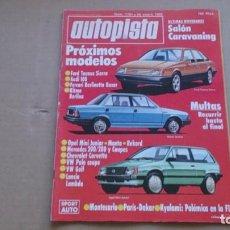Coches: REVISTA AUTOPISTA N 1181 ENERO 1982. Lote 99068471