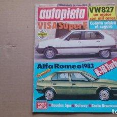 Coches: REVISTA AUTOPISTA. N 1184 FEBRERO 1982. Lote 99068899