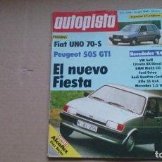 Coches: REVISTA AUTOPISTA. N 1260 SEPTIEMBRE 1983. Lote 99087159