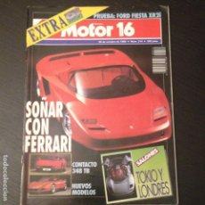 Coches: MOTOR 16 Nº 314 - FORD FIESTA XR2I FERRARI ESPECIAL 60 ANIVERSARIO MAZDA 323 BMW 318 IS. Lote 99125395