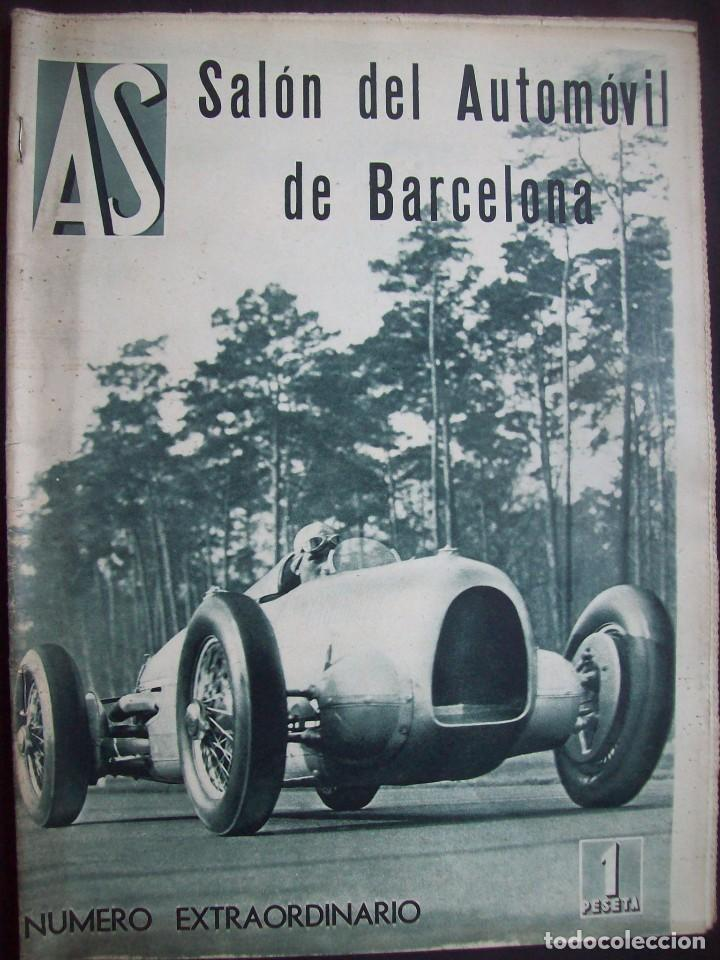 REVISTA AS . NUMERO EXTRAORDINARIO 1935 . DEDICADA AL SALON DEL AUTOMOVIL DE BARCELONA . UNICO (Coches y Motocicletas Antiguas y Clásicas - Revistas de Coches)