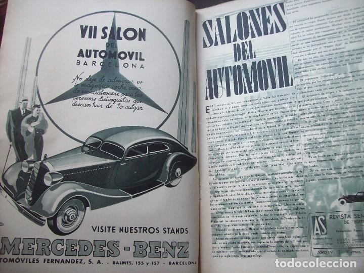 Coches: REVISTA AS . NUMERO EXTRAORDINARIO 1935 . DEDICADA AL SALON DEL AUTOMOVIL DE BARCELONA . UNICO - Foto 2 - 99185331