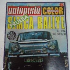 Coches: AUTOPISTA Nº 629 - CITROEN 2CV 6 2 PAGINAS / RALLYE SUECIA. Lote 173313160