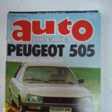 Coches: AUTOMECANICA Nº 121 - 1980 - REVISTA AUTO MECANICA - PEUGEOT 505. Lote 99226815