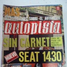 Coches: AUTOPISTA 656, 4 SEPTIEMBRE 1971. SEAT 1430, 24 HORAS LE MANS PORSCHE. Lote 99230303
