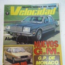 Coches: VELOCIDAD Nº 925 - JUN 1979 - CHRYSLER 150 LS / NUEVOS GENERAL MOTORS / GP MONACO FORMULA 1. Lote 99232071