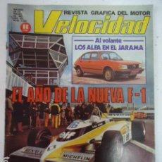 Coches: REVISTA VELOCIDAD Nº 1020 AÑO 1981. CONTACTO: LOS ALFA EN EL JARAMA. EL AÑO DE LA NUEVA F-1.. Lote 99232583