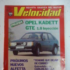 Coches: REVISTA VELOCIDAD 1983 NUMERO 1142- OPEL KADETT-NIETO DODECAMPEON. Lote 99232995