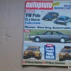 Coches: REVISTA AUTOPISTA N 1439 FEBRERO 1987. Lote 99434891