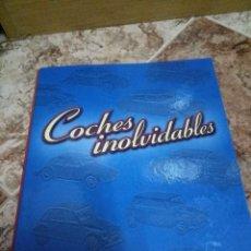 Coches: ARCHIVADOR COCHES INOLVIDABLES DE SALVAT, REPLETO DE FASCÍCULOS (TODOS EN FOTOS). Lote 99577823
