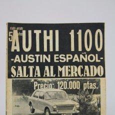 Coches: REVISTA DE COCHES AUTOPISTA / AUTHI 1100 AUSTIN ESPAÑOL Nº 366 FEBRERO 1966. Lote 99644759