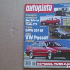 Coches: REVISTA AUTOPISTA N 1487 ENERO 1988. Lote 99735103