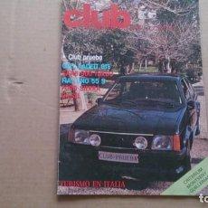Coches: CLUB REVISTA REAL AUTOMOVIL CLUB DE CATALUÑA N 9 MAYO1984. Lote 99783647