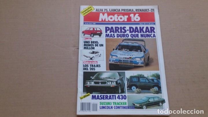 REVISTA MOTOR 16 N 221 ENERO 1988 (Coches y Motocicletas Antiguas y Clásicas - Revistas de Coches)