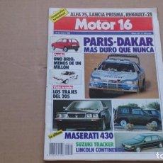 Coches: REVISTA MOTOR 16 N 221 ENERO 1988. Lote 110441771