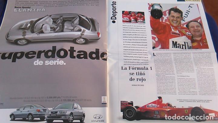 Coches: El Mundo. Anuario 2001 del motor. Coches de 2001, Rally, Fórmula 1, Motocicletas. Suplemento. - Foto 5 - 99891535