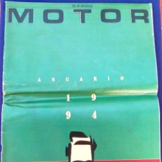 Coches: EL MUNDO. ANUARIO 1994 DEL MOTOR. COCHES DE 1, RALLY, FÓRMULA 1, MOTOCICLETAS. SUPLEMENTO.. Lote 99891835