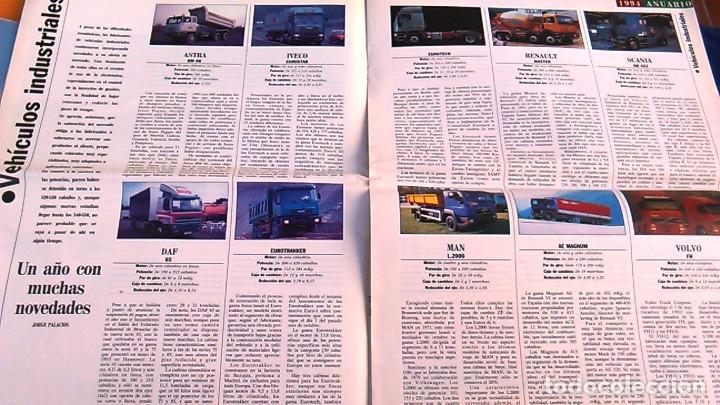 Coches: El Mundo. Anuario 1994 del motor. Coches de 1, Rally, Fórmula 1, Motocicletas. Suplemento. - Foto 7 - 99891835