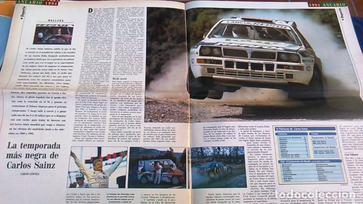 Coches: El Mundo. Anuario 1994 del motor. Coches de 1, Rally, Fórmula 1, Motocicletas. Suplemento. - Foto 8 - 99891835