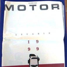 Coches: EL MUNDO. ANUARIO 1999 DEL MOTOR. COCHES DE 1, RALLY, FÓRMULA 1, MOTOCICLETAS. SUPLEMENTO.. Lote 99892215