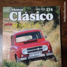 Voitures: MOTOR CLASICO Nº 174, RENAULT-4, PLYMOUTH BARRACUDA S ·MERCURY COUGAR, JULIO-2002. Lote 100452131