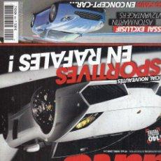 Coches: REVISTA SPORT AUTO FRANCES Nº 555 AÑO 2008. PRUEBA: MERCEDES SLK 350 SPORT. MERCEDES SL 63 AMG. . Lote 100947547