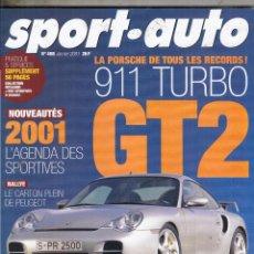 Coches: REVISTA SPORT AUTO FRANCES Nº 468 AÑO 2001. PRUEBA: PORSCHE 911 TURBO GT2. OPEL ASTRA COUPE TURBO. . Lote 100948247