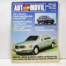 Coches: REVISTA DE AUTOMOVILES AUTOMOVIL FORMULA Nº 50 - MARZO DE 1982. Lote 101069427