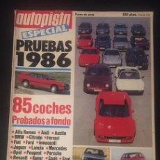 Coches: REVISTA AUTOPISTA ESPECIAL PRUEBAS 1986 85 COCHES PROBADOS A FONDO. Lote 101235455