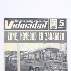 Coches: REVISTA DE COCHES VELOCIDAD - ZANE, NOVEDAD EN ZARAGOZA - Nº 266 - OCTUBRE 1966. Lote 101623535