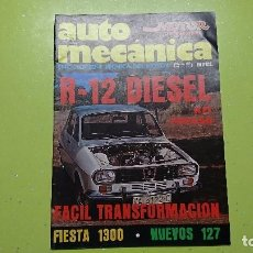 Coches: AUTO MECÁNICA, N° 95,1977,RENAULT 12 DIÉSEL . Lote 101771587