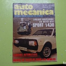 Coches: AUTO MECÁNICA, N° 94,1977,SEAT SPORT 1430. Lote 149786744