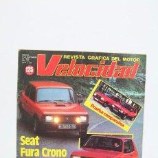 Coches: REVISTA DE COCHES VELOCIDAD - SEAT FURA CRONO - Nº 1.104 - NOVIEMBRE 1982. Lote 101830579