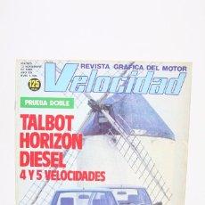 Coches: REVISTA DE COCHES VELOCIDAD - TALBOT HORIZON DIESEL 4 Y 5 VELOCIDADES Nº 1.105 - NOVIEMBRE 1982. Lote 101831495