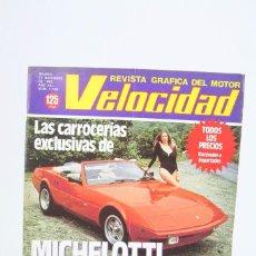 Coches: REVISTA DE COCHES VELOCIDAD - LAS CARROCERÍAS EXCLUSIVAS DE MICHELOTTI Nº 1.109 - DICIEMBRE 1982. Lote 101832415