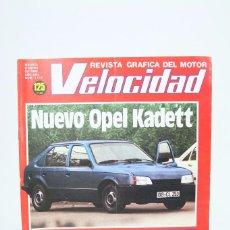 Coches: REVISTA DE COCHES VELOCIDAD - NUEVO OPEL KADETT Nº 1.112 - ENERO 1983. Lote 101835475