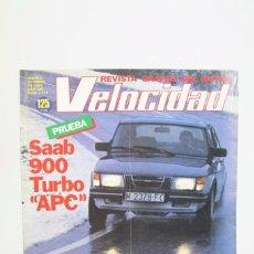 Coches: REVISTA DE COCHES VELOCIDAD - SAAB 900 TURBO APC Nº 1.114 - ENERO 1983. Lote 101835963