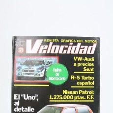 Coches: REVISTA DE COCHES VELOCIDAD - EL UNO AL DETALLE Nº 1.116 - FEBRERO 1983. Lote 101836471