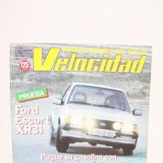 Coches: REVISTA DE COCHES VELOCIDAD - FORD ESCORT XR3I Nº 1.118 - FEBRERO 1983. Lote 101836767