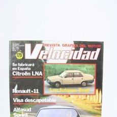 Coches: REVISTA DE COCHES VELOCIDAD - LOS FUTUROS SEAT Nº 1.119 - FEBRERO 1983. Lote 101836955