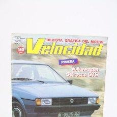 Coches: REVISTA DE COCHES VELOCIDAD - VOLKSWAGEN SCIROCCO GTS Nº 1.121 - MARZO 1983. Lote 101837735