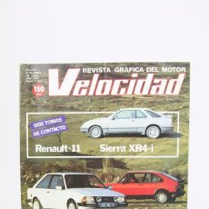 Coches: REVISTA DE COCHES VELOCIDAD - RENAULT - 11 SIERRA XR4-I Nº 1.124 - ABRIL 1983. Lote 101839495