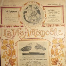 Coches: LA VIE AUTOMOBILE. REVISTA DEL AUTOMÓVIL DE 1907.. Lote 102501215