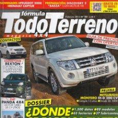 Coches: REVISTA TODO TERRENO Nº 154 AÑO 2013. PRUEBA: MITSUBISHI MONTERO 32 DI-D. VW. PASSAT ALLTRACK Y . Lote 102687015