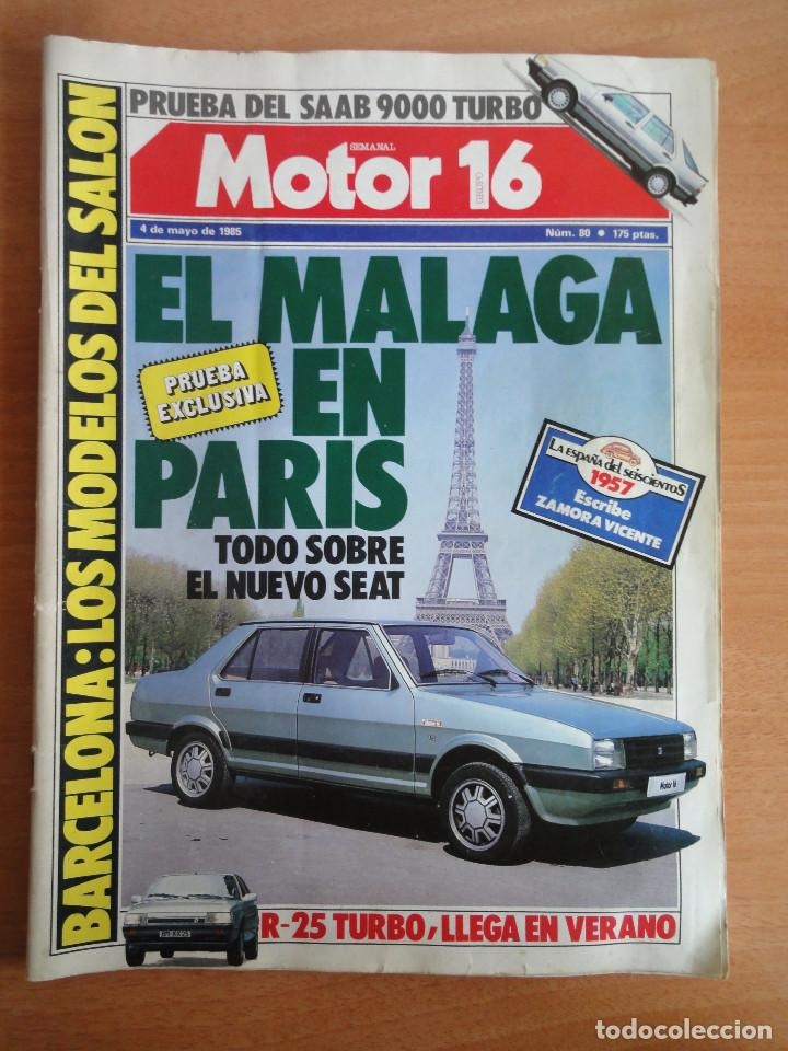 Coches: Motor 16. Num. 80 (Mayo 1985) con poster gama SEAT 85 - Foto 1 - 103499767