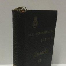 Coches: ANUARIO DEL REAL AUTOMOVIL CLUB DE ESPAÑA. 1915. Lote 103711583
